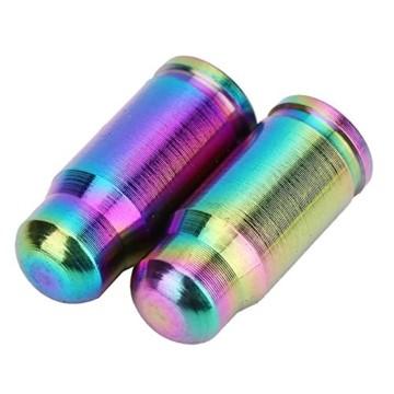 2 Pcs Presta Ventilkappen Fahrrad Titanlegierung Reifenstammluftventilkappen Staubabdeckung (Farbe : Mehrfarbig) - 3