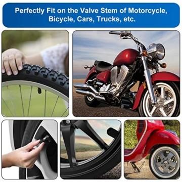 40 Stück Ventilkappen, Plastik Fahrradventil Universal Rad Autoventil Kappe Ersatz Valve Caps mit Roter Dichtungsring, Reifenventil Staubkappen Ventilkappen für Auto, Fahrrad, Motorrad, LKW und SUV - 7