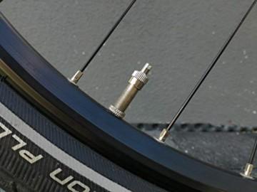 4er-Set Metall-Ventilkappen mit Schlüssel Ventilschlüsselkappe Ventilkappenausdreher für Auto Fahrrad Motorrad und Roller Autoventilkappen Radventilkappe car Valve caps Staubkappen für Auto - 2