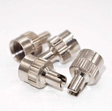 4er-Set Metall-Ventilkappen mit Schlüssel Ventilschlüsselkappe Ventilkappenausdreher für Auto Fahrrad Motorrad und Roller Autoventilkappen Radventilkappe car Valve caps Staubkappen für Auto - 4