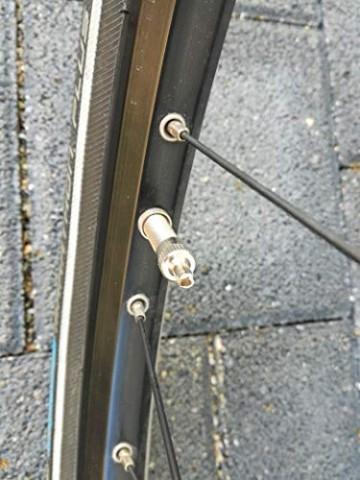 4er-Set Metall-Ventilkappen mit Schlüssel Ventilschlüsselkappe Ventilkappenausdreher für Auto Fahrrad Motorrad und Roller Autoventilkappen Radventilkappe car Valve caps Staubkappen für Auto - 5