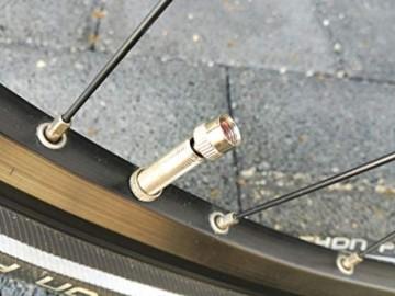 4er-Set Metall-Ventilkappen mit Schlüssel Ventilschlüsselkappe Ventilkappenausdreher für Auto Fahrrad Motorrad und Roller Autoventilkappen Radventilkappe car Valve caps Staubkappen für Auto - 6