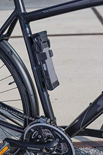 ABUS Faltschloss Bordo 6000/90 mit Schlosstasche - Fahrradschloss aus gehärtetem Stahl - Sicherheitslevel 10 - 90 cm - 51798 - Schwarz - 6