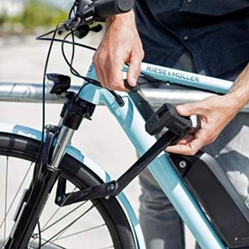 ABUS Faltschloss Bordo Granit XPlus 6500/85 mit Halterung - Fahrradschloss aus gehärtetem Stahl - höchstes ABUS-Sicherheitslevel 15 - 85 cm - 78068 - Schwarz - 6