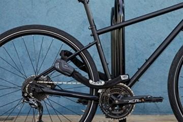 ABUS Kettenschloss Granit CityChain XPlus 1060/110 – Fahrradschloss aus gehärtetem Stahl – Sicherheitslevel 15 – 110 cm – 28623 – Schwarz - 2