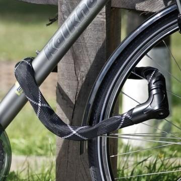 ABUS Kettenschloss Iven Chain 8210/110 – Fahrradschloss mit Kunstfaserummantelung – Sicherheitslevel 10 – 110 cm – 55153 – Schwarz - 3