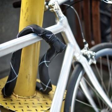 ABUS Kettenschloss Iven Chain 8210/110 – Fahrradschloss mit Kunstfaserummantelung – Sicherheitslevel 10 – 110 cm – 55153 – Schwarz - 7