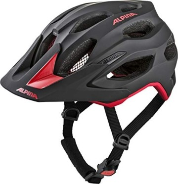 ALPINA CARAPAX 2.0 Fahrradhelm, Unisex– Erwachsene, black-red, 52-57 - 1