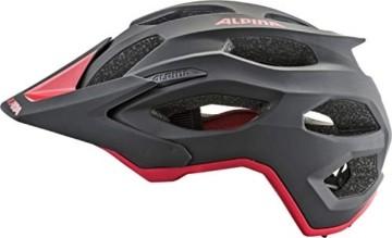 ALPINA CARAPAX 2.0 Fahrradhelm, Unisex– Erwachsene, black-red, 52-57 - 2