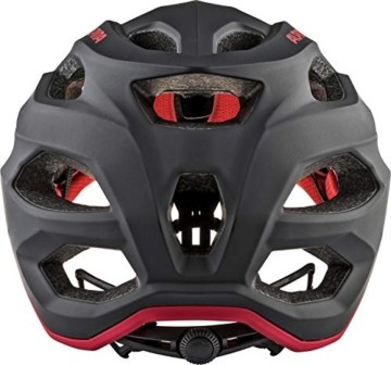 ALPINA CARAPAX 2.0 Fahrradhelm, Unisex– Erwachsene, black-red, 52-57 - 6