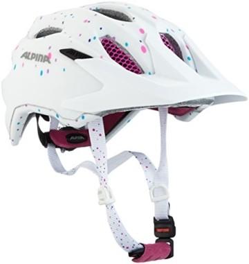 ALPINA CARAPAX JR. Fahrradhelm, Kinder, white polka dots, 51-56 - 1