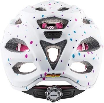 ALPINA CARAPAX JR. Fahrradhelm, Kinder, white polka dots, 51-56 - 2