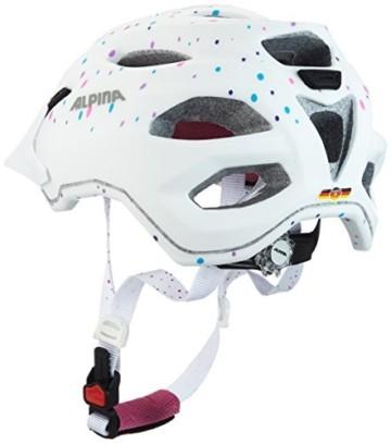 ALPINA CARAPAX JR. Fahrradhelm, Kinder, white polka dots, 51-56 - 6