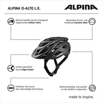 ALPINA D-ALTO L.E. Fahrradhelm, Unisex– Erwachsene, black matt, 57-61 - 3