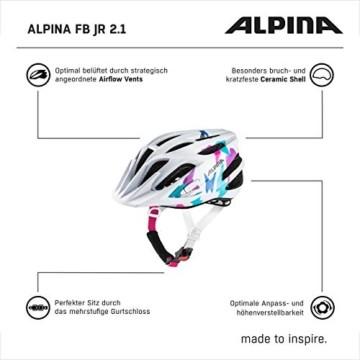 ALPINA FB jr. 2.0 Fahrradhelm, Kinder, white butterfly, 50-55 - 6