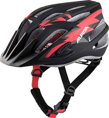 ALPINA FB JR. 2.0 LE Fahrradhelm, Kinder, black-red-white matt, 50-55 - 1