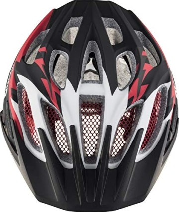 ALPINA FB JR. 2.0 LE Fahrradhelm, Kinder, black-red-white matt, 50-55 - 2