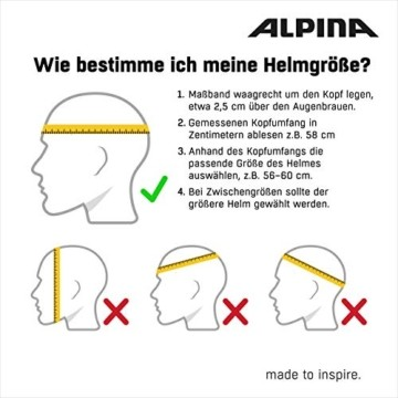 ALPINA FB JR. 2.0 LE Fahrradhelm, Kinder, black-red-white matt, 50-55 - 3