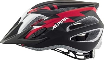 ALPINA FB JR. 2.0 LE Fahrradhelm, Kinder, black-red-white matt, 50-55 - 5