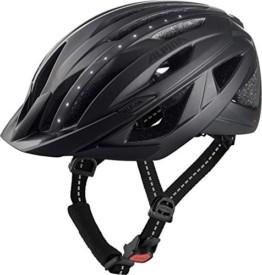ALPINA HAGA LED Fahrradhelm, Unisex– Erwachsene, black matt, 51-56 - 1