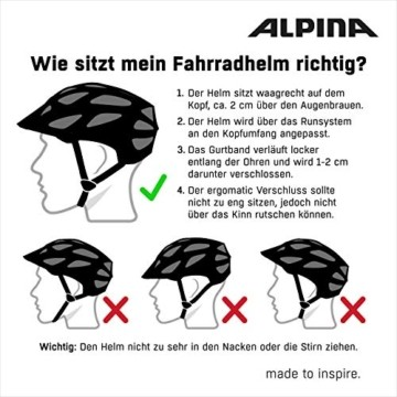 ALPINA HAGA LED Fahrradhelm, Unisex– Erwachsene, black matt, 51-56 - 3
