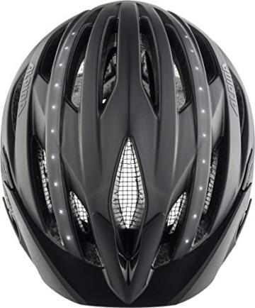 ALPINA HAGA LED Fahrradhelm, Unisex– Erwachsene, black matt, 51-56 - 6