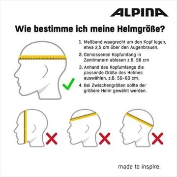 ALPINA HAGA LED Fahrradhelm, Unisex– Erwachsene, black matt, 51-56 - 7