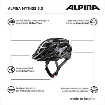 ALPINA MYTHOS 3.0 Fahrradhelm, Unisex– Erwachsene, black anthracite, 59-64 - 9