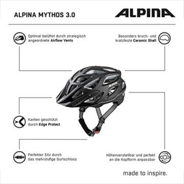 ALPINA MYTHOS 3.0 LE Fahrradhelm, Unisex– Erwachsene, black matt, 52-57 - 7