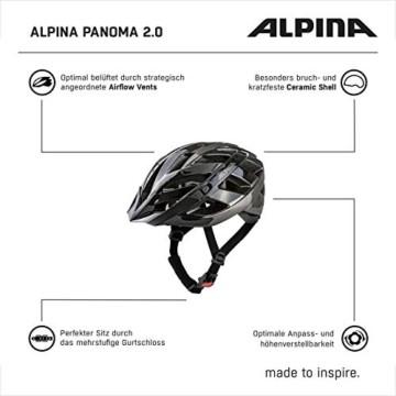 ALPINA PANOMA 2.0 Fahrradhelm, Unisex– Erwachsene, black-anthracite, 52-57 - 3
