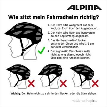 ALPINA PANOMA CLASSIC Fahrradhelm, Unisex– Erwachsene, black, 52-57 - 7
