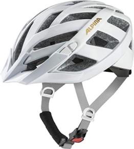 ALPINA PANOMA CLASSIC Fahrradhelm, Unisex– Erwachsene, white-prosecco, 52-57 - 1