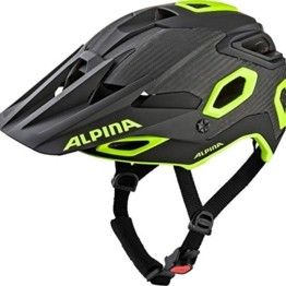ALPINA ROOTAGE Fahrradhelm, Unisex– Erwachsene, black-neon yellow, 57-62 - 1