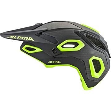 ALPINA ROOTAGE Fahrradhelm, Unisex– Erwachsene, black-neon yellow, 57-62 - 7