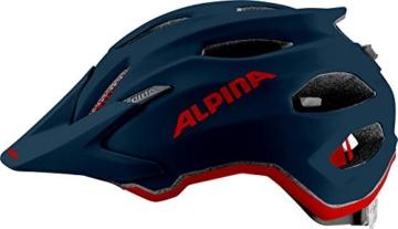 Alpina Unisex Jugend Carapax JR. Fahrradhelm, Indigo matt, 51-56 cm - 4