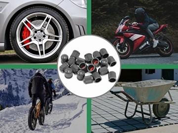 AMAPRO 20x Premium Ventilkappen für Auto, Motorrad und Fahrrad mit Dichtungsring | Ventildeckel | Autoventilkappen - 2