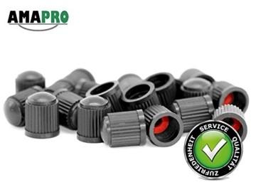 AMAPRO 20x Premium Ventilkappen für Auto, Motorrad und Fahrrad mit Dichtungsring | Ventildeckel | Autoventilkappen - 3
