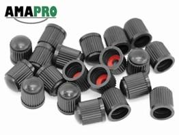 AMAPRO 20x Premium Ventilkappen für Auto, Motorrad und Fahrrad mit Dichtungsring | Ventildeckel | Autoventilkappen - 1