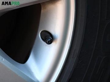 AMAPRO 20x Premium Ventilkappen für Auto, Motorrad und Fahrrad mit Dichtungsring | Ventildeckel | Autoventilkappen - 4
