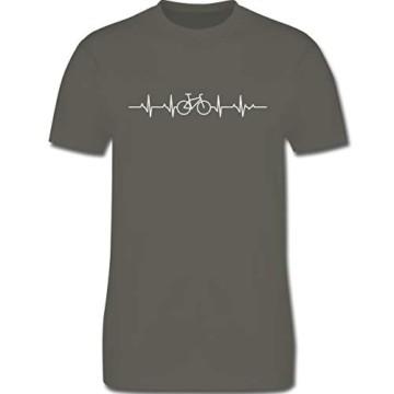 Andere Fahrzeuge - Herzschlag Fahrrad - L - Dunkelgrau - Shirt Fahrrad Herren Motiv - L190 - Tshirt Herren und Männer T-Shirts - 4