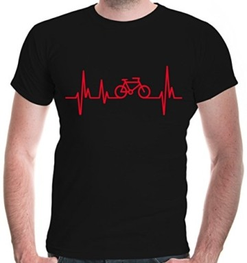 buXsbaum® Herren T-Shirt Frequenz Cycle | Fahrrad Bike Rad Bicycle Velo Drahtesel | XL, Schwarz - 1