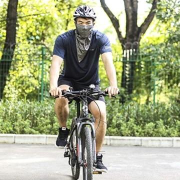 CHILEAF Jugend & Erwachsene Fahrradhelm CE EN1078, EPS-Körper + PC-Schale, Robust und Ultraleicht, mit Abnehmbarem Visier und Polsterung, mit freiem Stirnband, Verstellbar Radhelm (56-64cm) - 2
