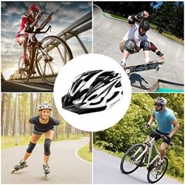 CHILEAF Jugend & Erwachsene Fahrradhelm CE EN1078, EPS-Körper + PC-Schale, Robust und Ultraleicht, mit Abnehmbarem Visier und Polsterung, mit freiem Stirnband, Verstellbar Radhelm (56-64cm) - 5