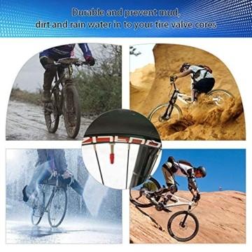 EMAGEREN 20 Stücke Fahrrad Presta Ventilkappen mehrfarbige Französisch Ventilkappen Fahrradstaubkappen Aluminiumlegierung Bike Rad Reifen Ventil Abdeckungen für Mountainbike MTB Motorrad(10 Farbe) - 5
