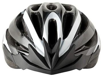Fahrradhelm Dunlop HB13 für Damen, Herren, Kinder, EPS Innenschale, Abnehmbares Visier für optimalen Blendschutz, Leichter MTB City Bike Helm, besonders Luftig (M (55-58cm), Weiß) - 2