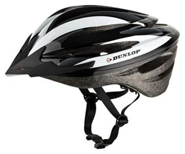 Fahrradhelm Dunlop HB13 für Damen, Herren, Kinder, EPS Innenschale, Abnehmbares Visier für optimalen Blendschutz, Leichter MTB City Bike Helm, besonders Luftig (M (55-58cm), Weiß) - 3
