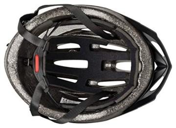 Fahrradhelm Dunlop HB13 für Damen, Herren, Kinder, EPS Innenschale, Abnehmbares Visier für optimalen Blendschutz, Leichter MTB City Bike Helm, besonders Luftig (M (55-58cm), Weiß) - 4