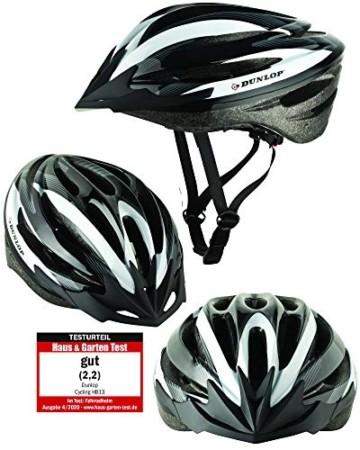Fahrradhelm Dunlop HB13 für Damen, Herren, Kinder, EPS Innenschale, Abnehmbares Visier für optimalen Blendschutz, Leichter MTB City Bike Helm, besonders Luftig (M (55-58cm), Weiß) - 1
