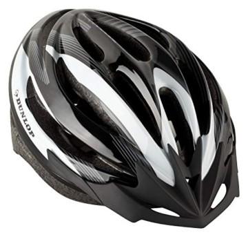 Fahrradhelm Dunlop HB13 für Damen, Herren, Kinder, EPS Innenschale, Abnehmbares Visier für optimalen Blendschutz, Leichter MTB City Bike Helm, besonders Luftig (M (55-58cm), Weiß) - 5