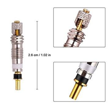 FAM STICKTILES 17-Teile Sclaverandventil, Fahrrad Ventil-Adapter, Fahrrad-Ventilkappen und Ventileinsatz - 2